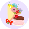 Birthday Flowers and Cakes